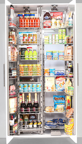 Solutions Lanka In Chef Pantry Of Tall Swing Out Storage Kitchen